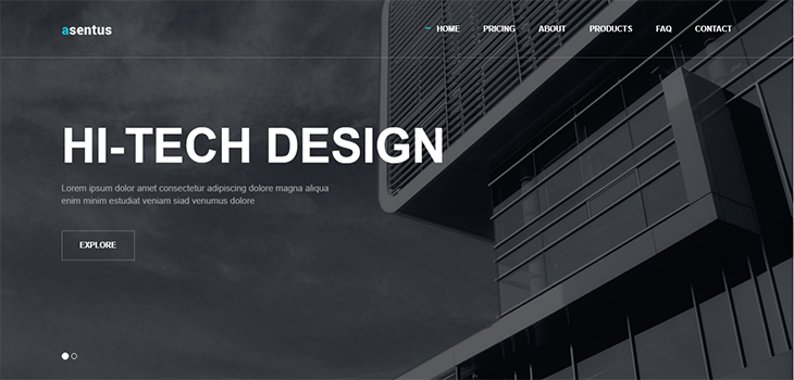 Asentus – Free Responsive Bootstrap Corporate Agency