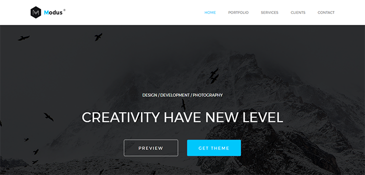 Modus – Free Bootstrap HTML5 Template