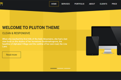 Pluton – Bootstrap Free Single Page Bootstrap Html Template