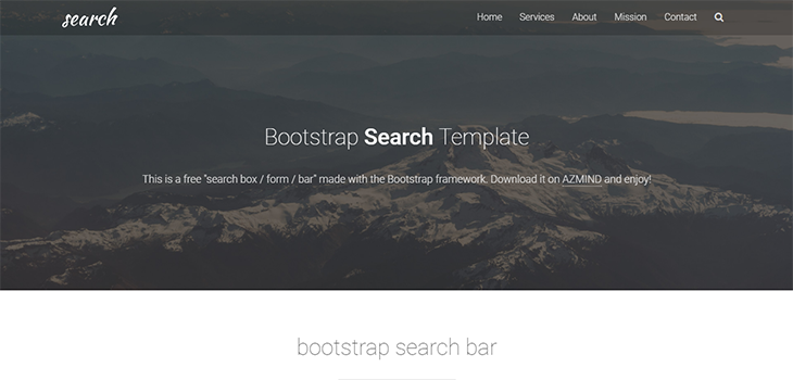 Bootstrap Search Template | Bootstrap Themes