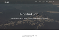 Bootstrap Search Template