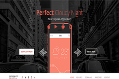 SevenApp Free Beautiful Mobile App Landing Page