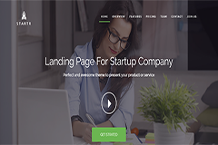 Startr – Free Startup Landing page Template
