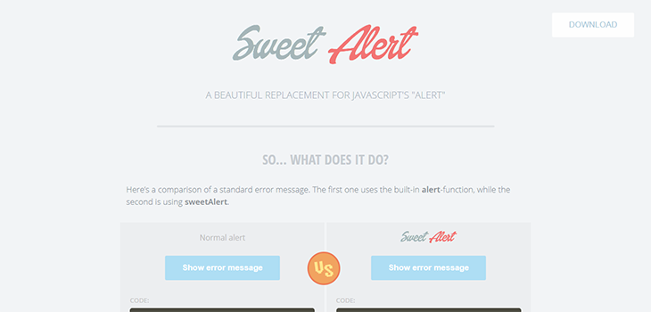 SweetAlert – A beautiful Bootstrap replacement for JavaScripts alert