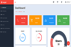Target Free Responsive Bootstrap Admin Template
