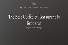 Tasty – Free Bootstrap Template