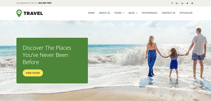 Travel Agency Responsive HTML Website Template